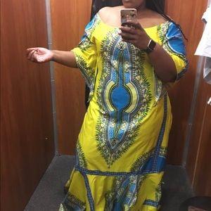 Off the shoulder African Caftan dress
